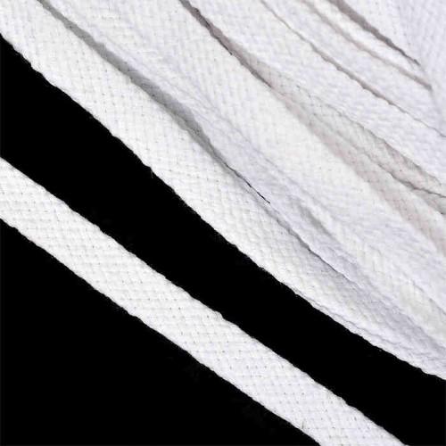 Шнурки хоккейные (плоские)  белые 250см (25пар)