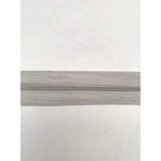 Молния рулонная спиральная №3 светло серая (10м)
