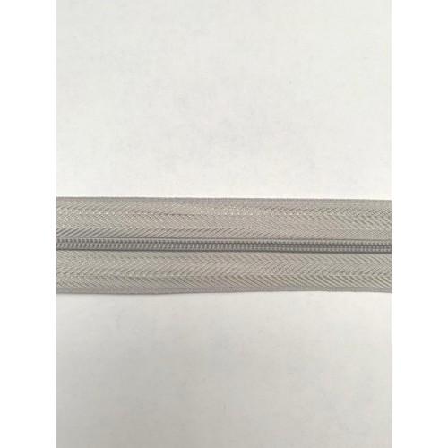 Молния рулонная спиральная №3  (200м)  светло серая