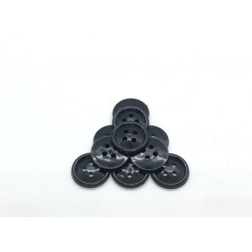 Пуговицы  d17/4 черный (1000шт)