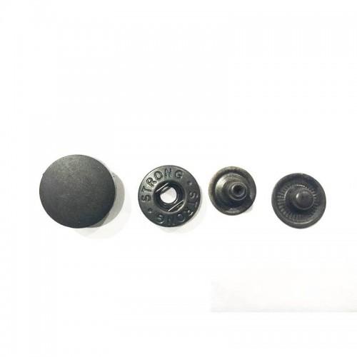 Кнопки d 15мм Альфа с пластиковой шляпкой  (30шт)  чёрная