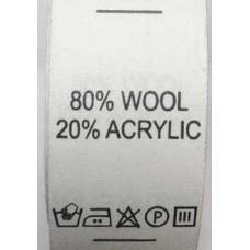 Составники для одежды 80%Wool 20%Acrylic (1400шт)
