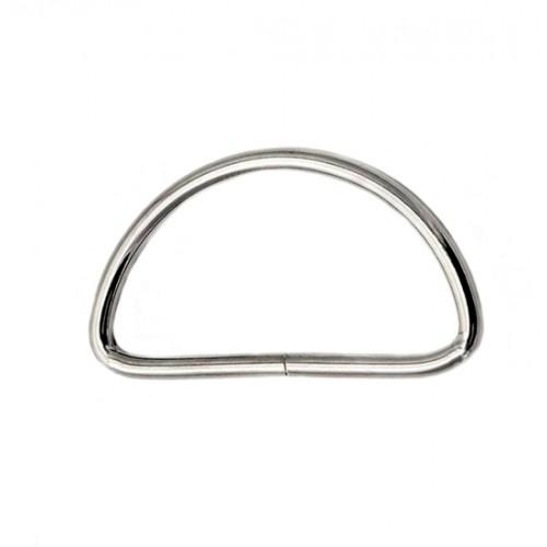 Полукольца 25мм (500шт)  никель толщ. 2мм