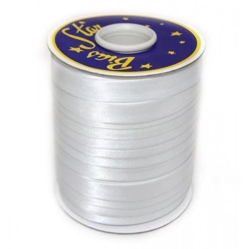 Косая бейка 15мм         (132м) атласная    белая