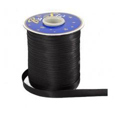 Косая бейка 15мм         (132м) атласная   чёрная