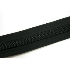 Молния рулонная спиральная №10 (10м) чёрная