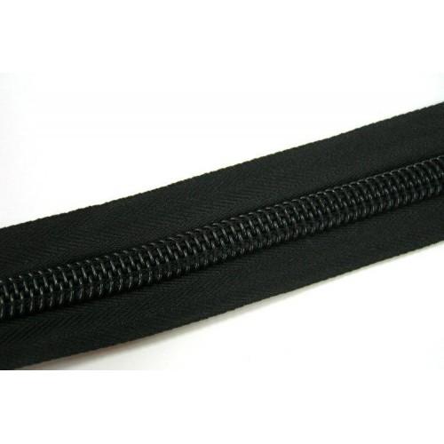 Молния рулонная спиральная №10А    (10м)  чёрная