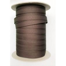 Брючная лента 15мм  Германия   (100м) коричневая