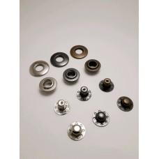 Кнопка клямерная d12.5мм Нержавейка  (30шт)