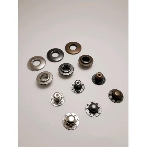 Кнопка клямерная d12.5мм Нержавейка  (720шт)