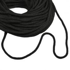 Шнур полиэфир 5 мм с наполн. (200м) чёрный