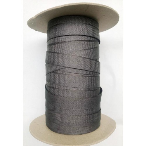 Брючная лента 15мм  Германия   (200м) т.серая