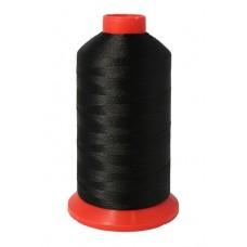 Нить повышенной прочности 420D/3, (1600ярд) чёрная