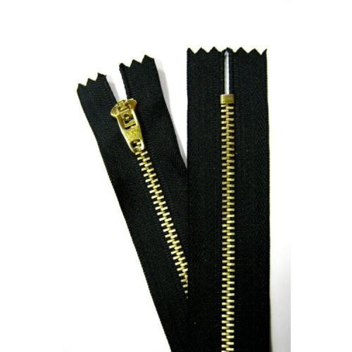 Молнии джинсовые №4    Полуавтомат  8см  чёрный (латунь)