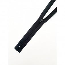 Молния спираль №3 плательная 60,70см неразъёмная  чёрная