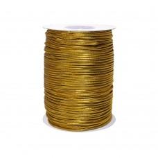 Резинка шляпная d2.5мм  (100м)   Gold