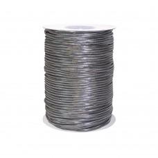 Резинка шляпная d2.5мм  (100м)    Silver
