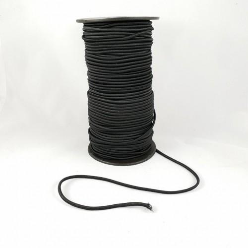 Резинка шляпная d2мм  (100м)  чёрная
