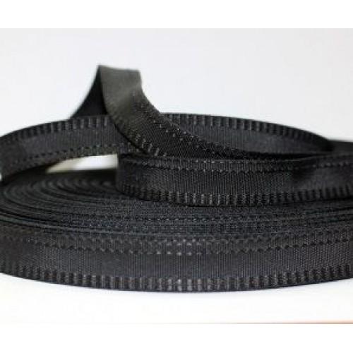 Брючная лента   Капрон 15мм    чёрная  (50м)