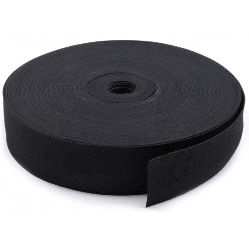 Резинка вязаная Чёрная 25мм (40м)