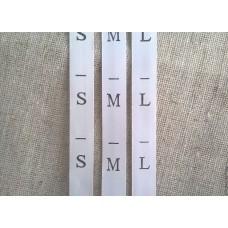 Размерники (S,M,L,XL,XXL) (300шт)