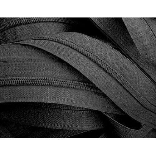 Молния рулонная спиральная №5   (200м)   чёрная (15гр/м)