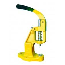Пресс TEP-2 Mikron, с переходником для обтяжки пуговиц - жёлтый