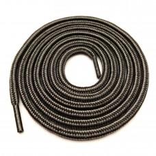 """Шнурки тип 13         """"Наполнитель""""   120см  чёрный +серый в полоску  (50пар)"""