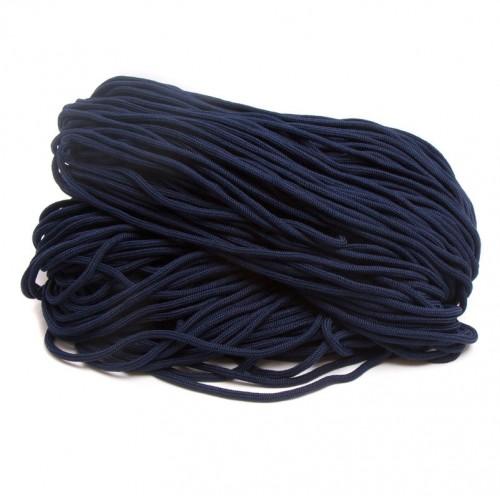 Шнур  полиэфир 5 мм с наполнителем  (200м)  т.синий
