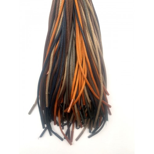 Шнурки тип 0     с пропиткой   70см  (50пар)    ассорти