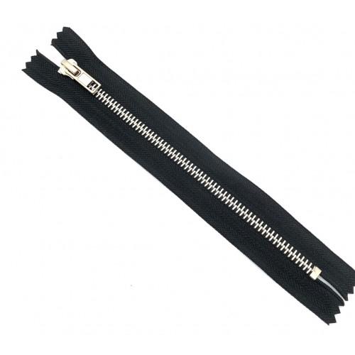 Молнии джинсовые №5 автомат 18см  чёрный (никель)