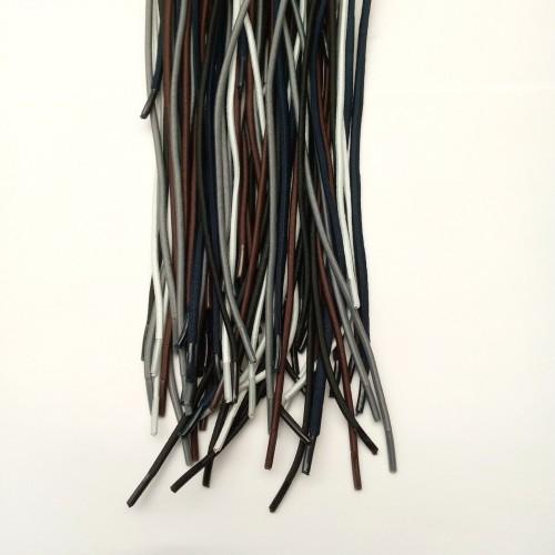 Шнурки резиновые d3мм. 50<100см (25пар) Ассорти