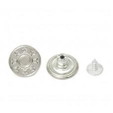 Джинсовые пуговицы 17мм          (50шт) никель
