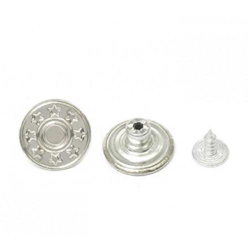 Джинсовые пуговицы 17мм          (уп 50шт) никель