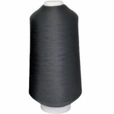 Оверлочная нить текстурированная некрученая  150D/1  (15000м)  чёрная