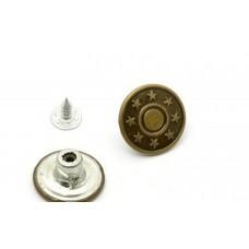 Джинсовые пуговицы 17мм          (50шт) антик