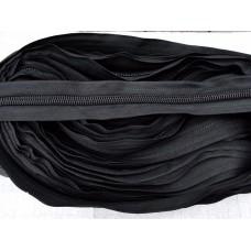 Молния рулонная спиральная №8А  (200м) чёрная (21 г/м)