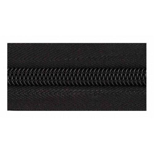 Молния рулонная спиральная №5  (10м)  чёрная